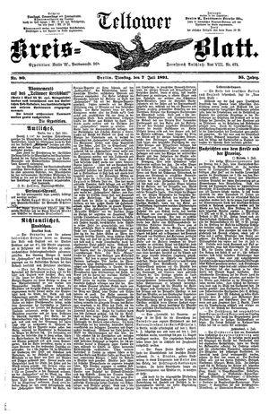 Teltower Kreisblatt vom 07.07.1891