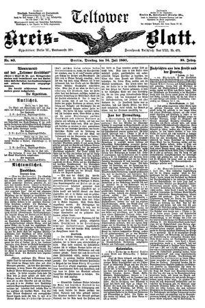 Teltower Kreisblatt vom 14.07.1891