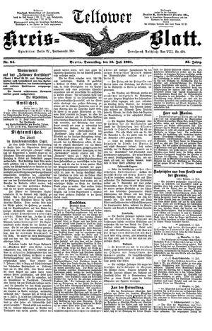Teltower Kreisblatt vom 16.07.1891