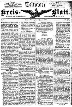 Teltower Kreisblatt vom 05.01.1892