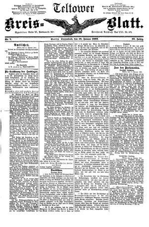 Teltower Kreisblatt vom 16.01.1892