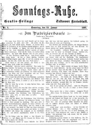 Teltower Kreisblatt vom 24.01.1892