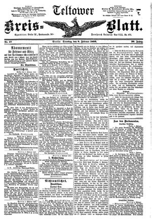 Teltower Kreisblatt vom 09.02.1892
