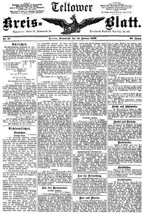 Teltower Kreisblatt vom 13.02.1892