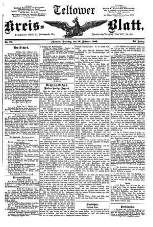 Teltower Kreisblatt vom 16.02.1892
