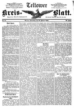 Teltower Kreisblatt vom 18.02.1892
