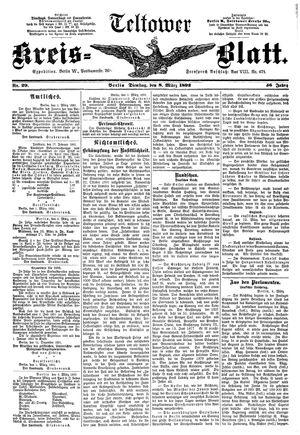 Teltower Kreisblatt vom 08.03.1892