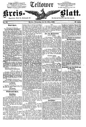 Teltower Kreisblatt vom 10.03.1892