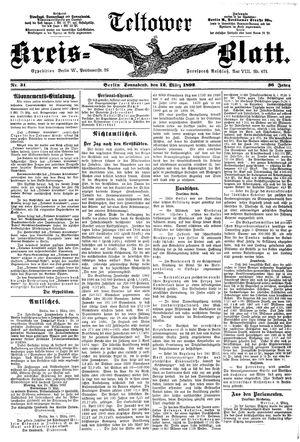 Teltower Kreisblatt vom 12.03.1892