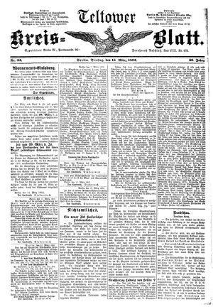 Teltower Kreisblatt vom 15.03.1892