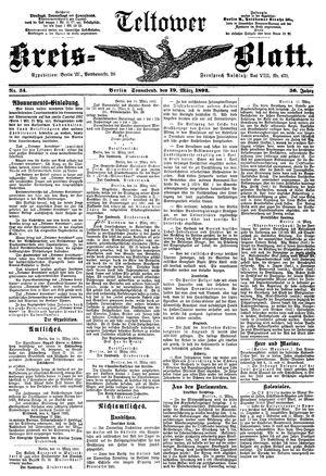 Teltower Kreisblatt vom 19.03.1892