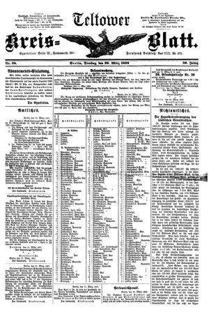Teltower Kreisblatt vom 29.03.1892