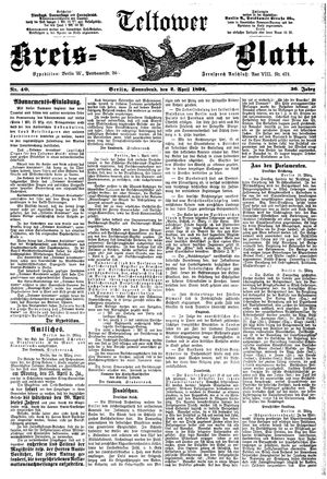 Teltower Kreisblatt vom 02.04.1892