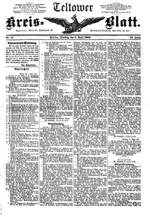 Teltower Kreisblatt on Apr 5, 1892