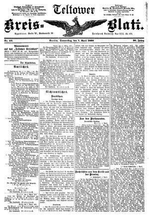 Teltower Kreisblatt vom 07.04.1892