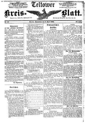 Teltower Kreisblatt vom 09.04.1892