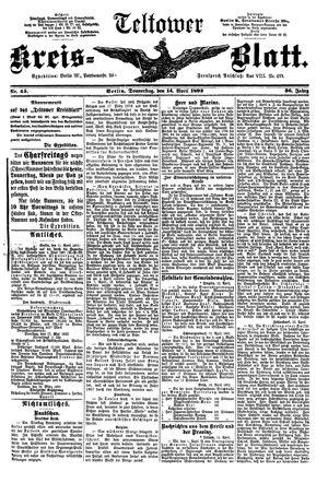 Teltower Kreisblatt vom 14.04.1892