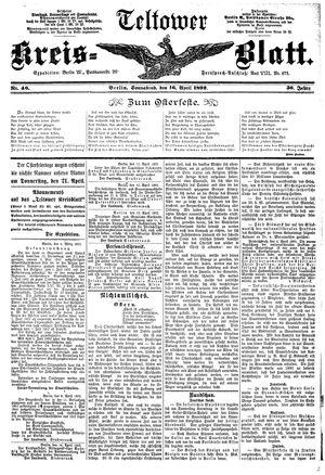 Teltower Kreisblatt vom 16.04.1892
