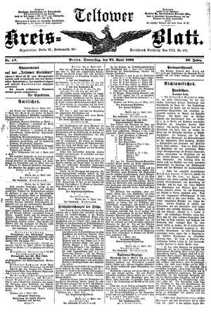 Teltower Kreisblatt vom 21.04.1892