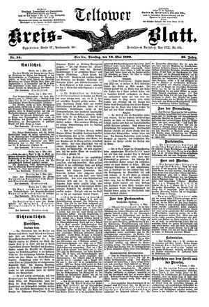 Teltower Kreisblatt on May 10, 1892