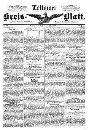 Teltower Kreisblatt vom 14.05.1892