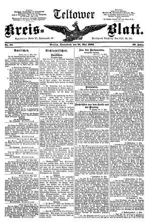 Teltower Kreisblatt vom 21.05.1892