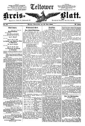 Teltower Kreisblatt vom 26.05.1892