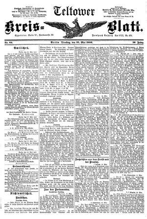 Teltower Kreisblatt on May 31, 1892