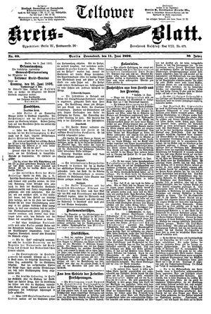 Teltower Kreisblatt vom 11.06.1892