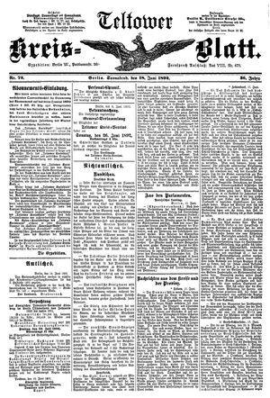 Teltower Kreisblatt vom 18.06.1892