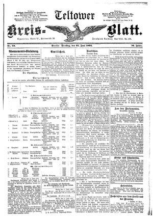 Teltower Kreisblatt vom 21.06.1892