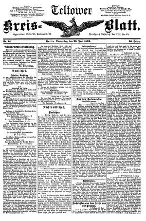 Teltower Kreisblatt vom 23.06.1892