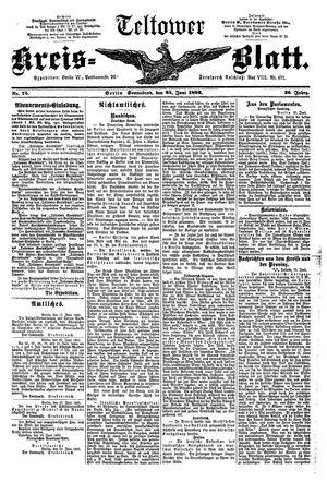 Teltower Kreisblatt vom 25.06.1892