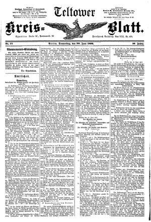 Teltower Kreisblatt vom 30.06.1892