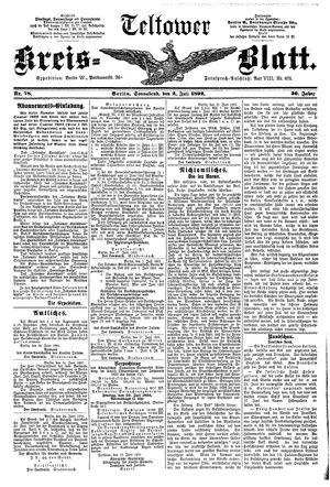 Teltower Kreisblatt vom 02.07.1892