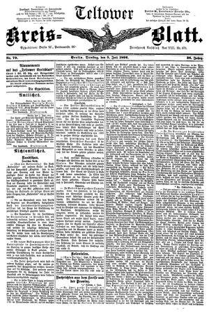 Teltower Kreisblatt vom 05.07.1892