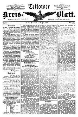Teltower Kreisblatt vom 09.07.1892