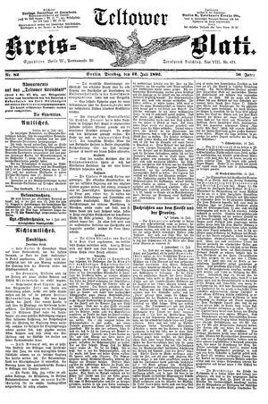 Teltower Kreisblatt vom 12.07.1892