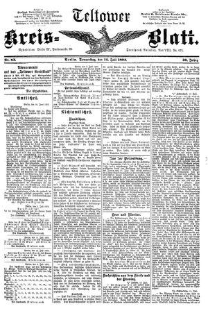Teltower Kreisblatt vom 14.07.1892