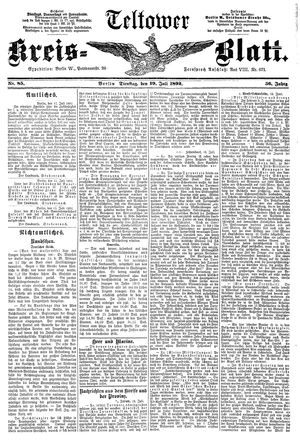 Teltower Kreisblatt vom 19.07.1892
