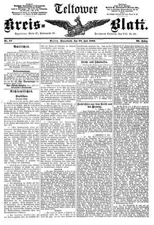 Teltower Kreisblatt vom 23.07.1892