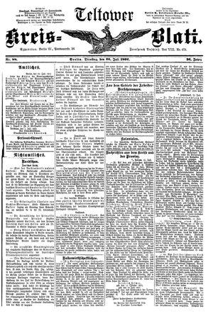 Teltower Kreisblatt vom 26.07.1892