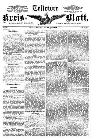 Teltower Kreisblatt vom 28.07.1892