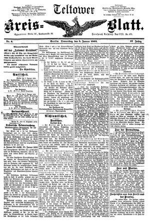 Teltower Kreisblatt vom 05.01.1893