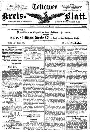 Teltower Kreisblatt on Jan 7, 1893