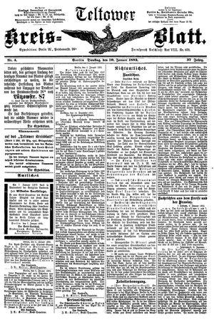 Teltower Kreisblatt vom 10.01.1893