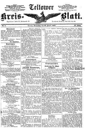 Teltower Kreisblatt vom 12.01.1893