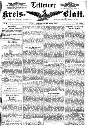 Teltower Kreisblatt vom 14.01.1893