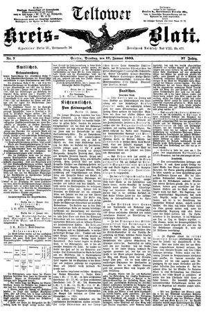 Teltower Kreisblatt vom 17.01.1893
