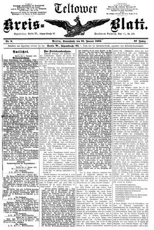 Teltower Kreisblatt vom 21.01.1893